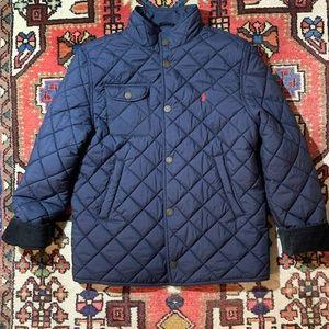 Polo Ralph Lauren Navy Quilted Jacket/Car Coat LG